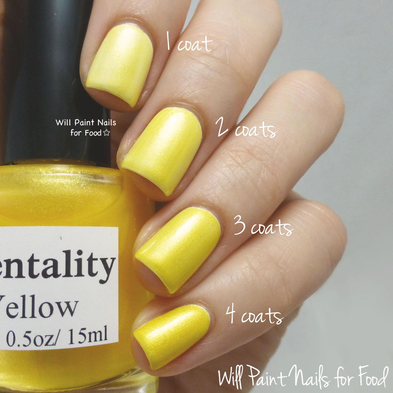 Mentality Nail Polish Glaze Yellow swatch