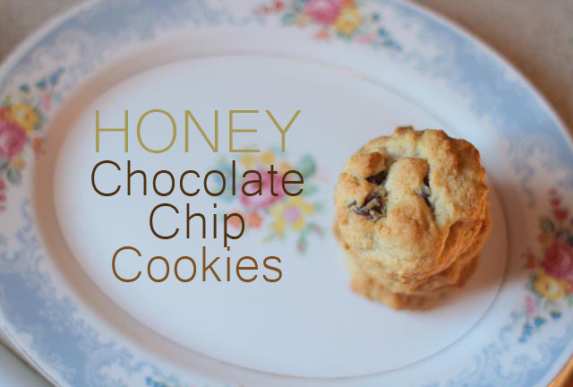 honey chocolate chip cookies yum mamacheemamachee. Black Bedroom Furniture Sets. Home Design Ideas