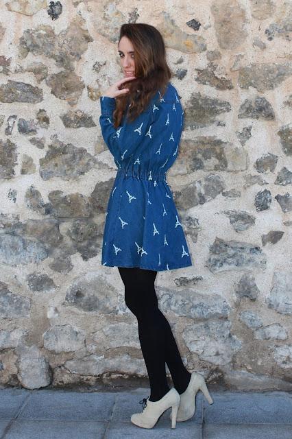 como llevar un vestido vaquero