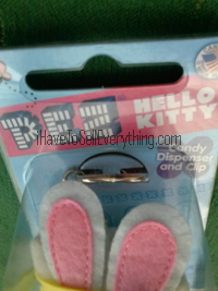 Hello Kitty Pez dispenser plush Easter Bunny bunny ears