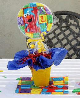 Elmo decoration centerpieces for children parties