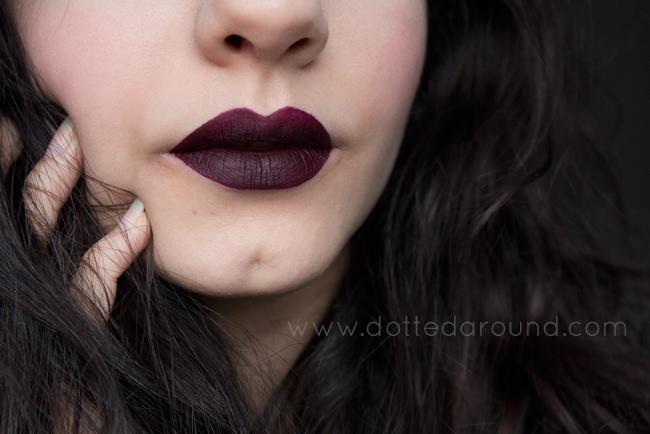 Mac high drama liquid lipstick swatch