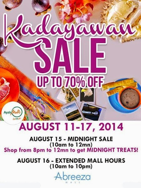 Davao City, Davao delights, Festivals, Kadayawan Festival 2014, Kalamboan sa Kinaiyahan: Kadayawan sa Katawhan, Nature's Flourishing: People's Well-Being, Mid-Night Sale, Abreeza Mall