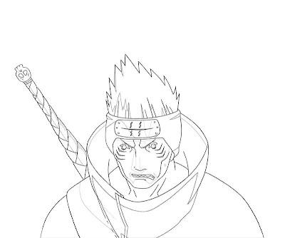 Naruto Kisame Coloring Page