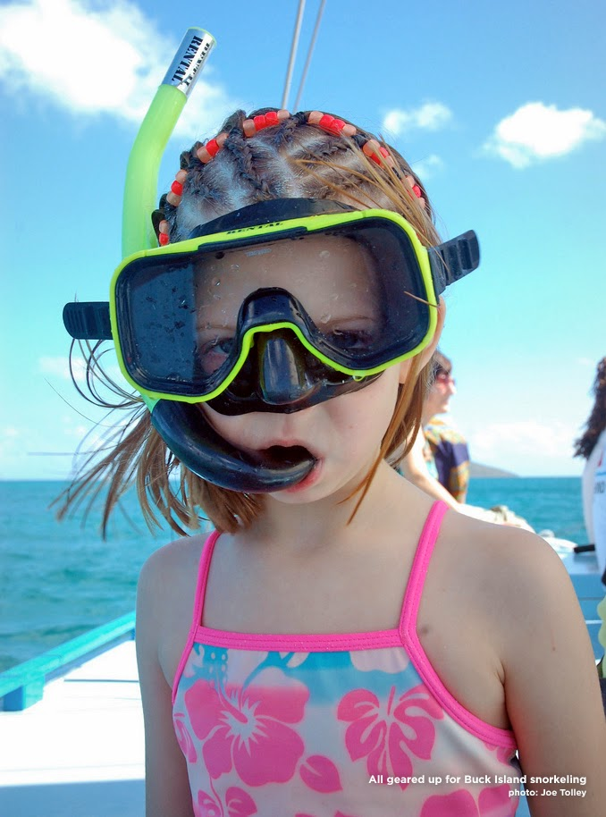 Suited up for snorkeling St. Croix. Copyright Joe Tolley 2014 / TravelBoldly.com