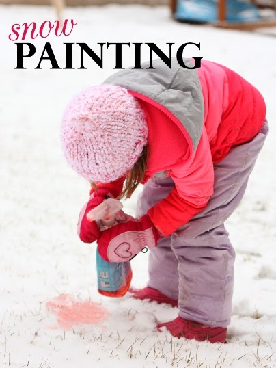 winter activity snow painting