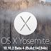 Download OS X 10.10.2 Yosemite Beta 4 (14C94b) Combo / Delta .DMG File via Direct Links