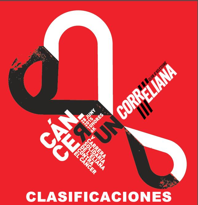 CLASIFICACIONES V CÁNCER RUN L'ELIANA 2015