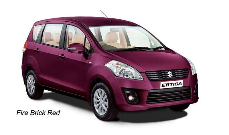 Fire Brick Red : Car specifications price india maruti suzuki ertiga
