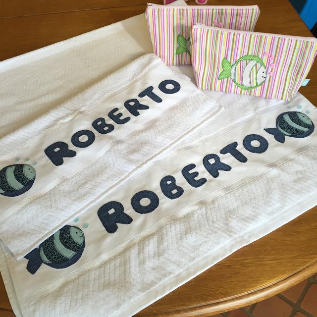 Toalha com aplicação de tecido | @ateliemadrica