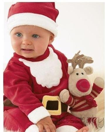 Santa baby Costume red color lovely suit for your kids