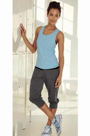 ropa fitness de Lidl camiseta tirantes pantalón pirata mujer