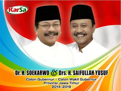 Nomor urut 1 Soekarwo-Saifullah Yusuf