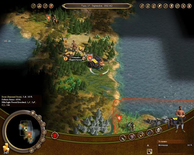 Civilization 4 Colonization - Early Scout and Treasures Description