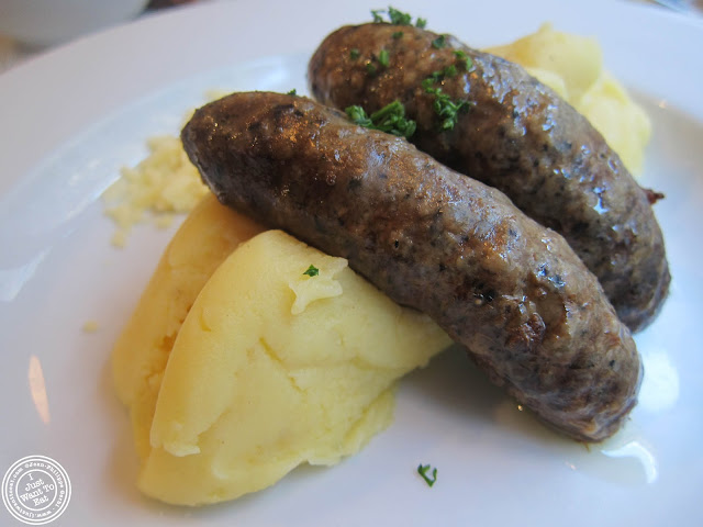 Image of Cheesy mash with lamb and mint sausages at Mother Mash in London, England