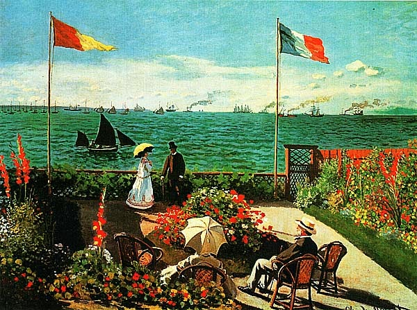Клод Моне. Терраса в Сент-Адресс. 1867.