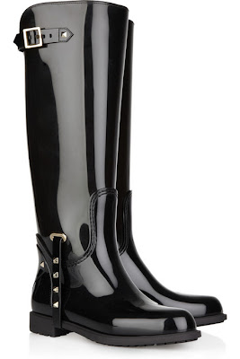 Rainy boots - Gummy boots - Hunter boots - For a rainy weather - black VALENTINO - fancy