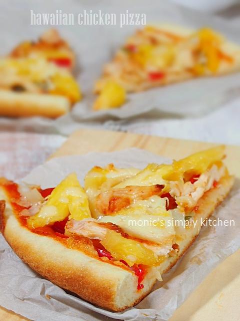 resep hawaiian chicken pizza