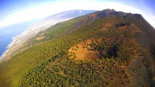 Panorámica de Cumbre Vieja en las Islas Canarias