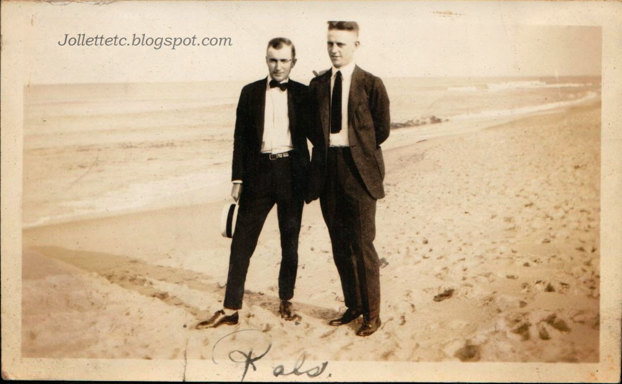 Unknown men in suits Ocean View, VA 1919-21 http://jollettetc.blogspot.com