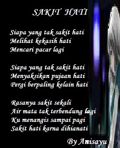 Puisi Cinta By Anisayu Sakit Hati