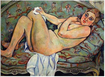 Suzanne Valadon - Reclining nude