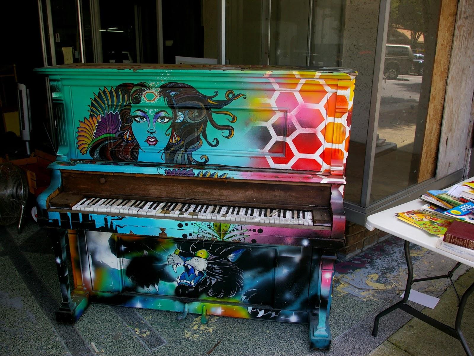 Роспись пианино своими руками 80