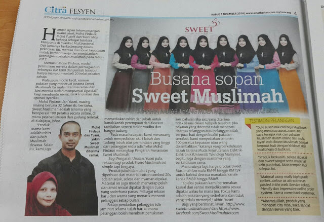 sweet muslimah sinar harian