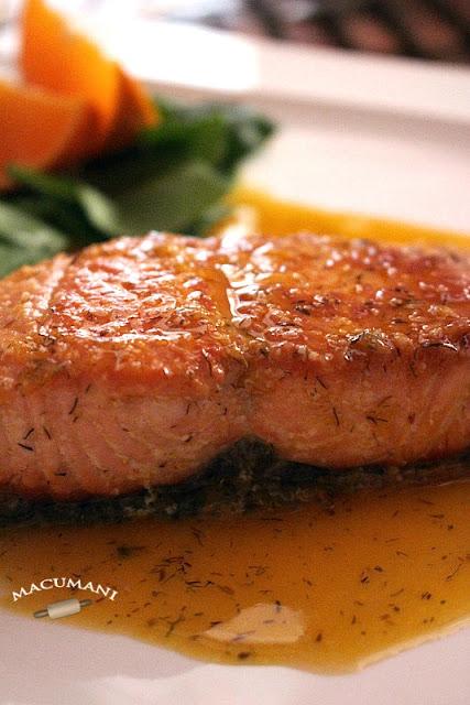 Salmón en salsa de naranja. Macumani