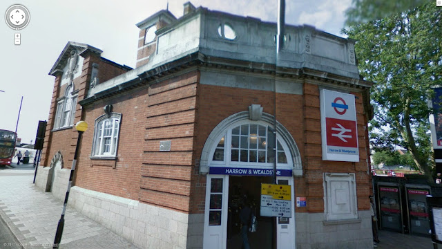 Harrow and Wealdstone station on the Bakerloo line of the London Underground
