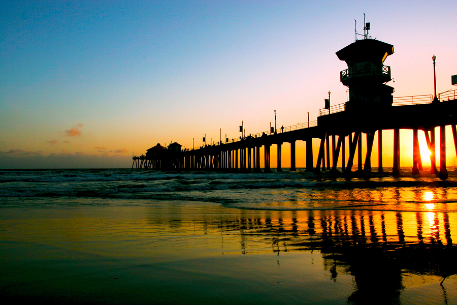 Huntington Beach Pier California Free Download Wallpaper 900 X 600