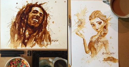 00-Maria-A-Aristidou-Pop-Culture-Painted-with-Coffee-www-designstack-co