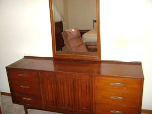 The Set Includes A Mid Century Broyhill Sculptra Dresser With Mirror; A  Broyhill Sculptra Bed With Headboard, Rails And Footboard; Two Broyhill  Sculptra ...