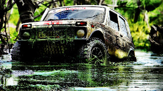 Off Road Jeep covered Mud HD Wallpaper