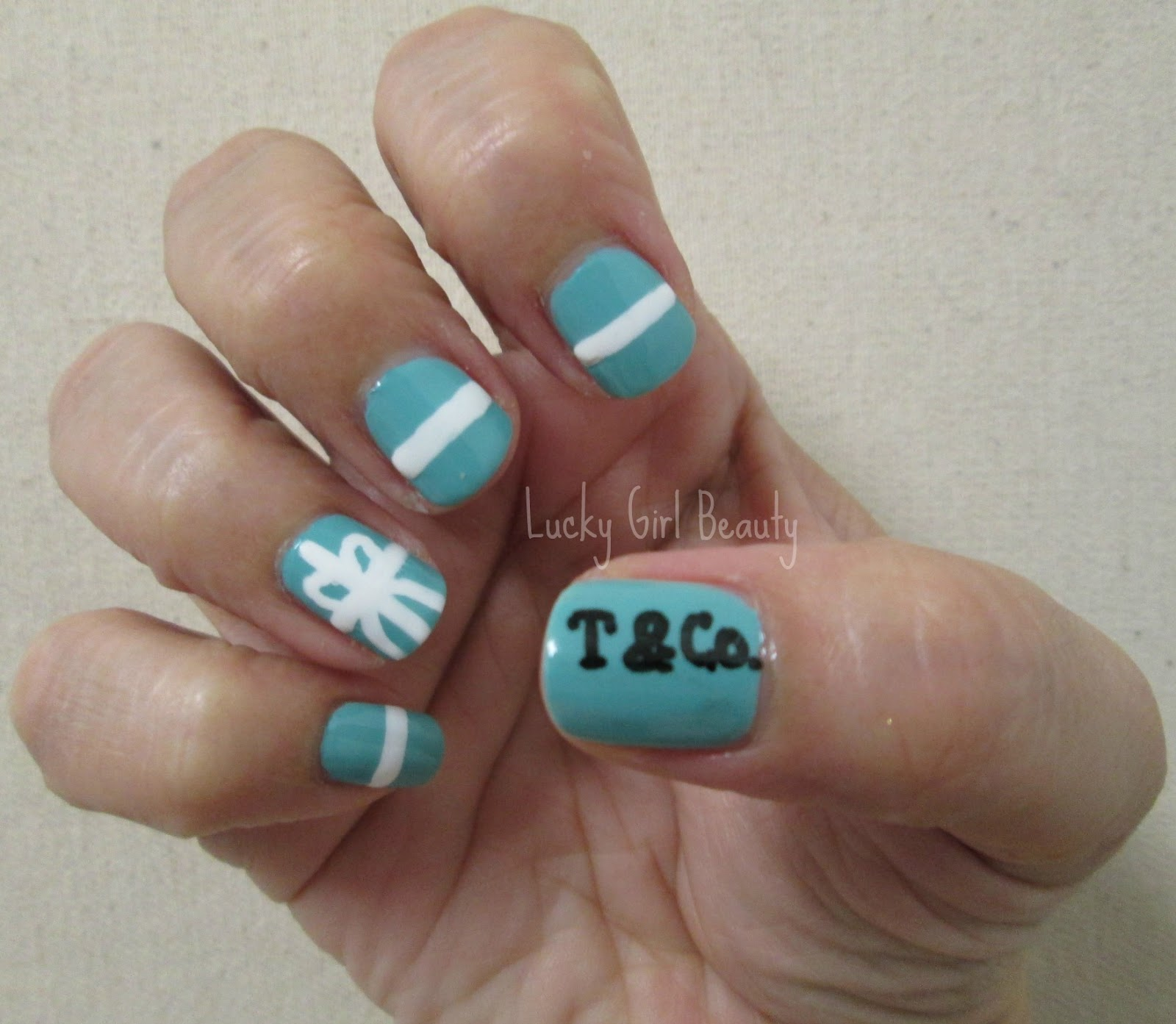 Lucky girl beauty tiffany inspired nails tiffany inspired nails prinsesfo Images