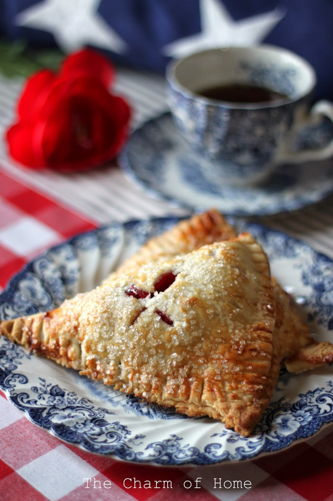 Easy Cherry Hand Pies, The Charm of Home