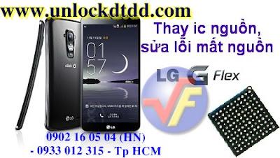 Thanh cong thay ic nguon sua LG G Flex loi hong power ic nhanh nhat Ha Noi Tp HCM