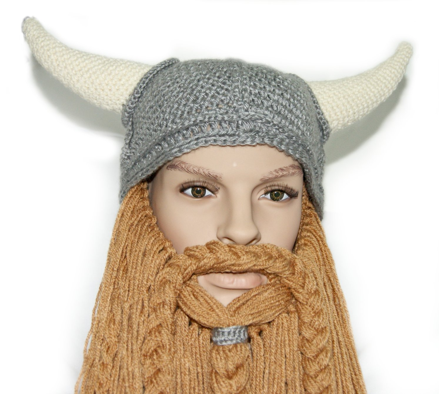 Crochet Viking Hat With Beard : Crochet Beard Beanie Pattern Free Bretts viking hat