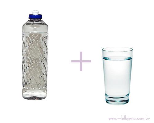 Resultado de imagem para água e detergente