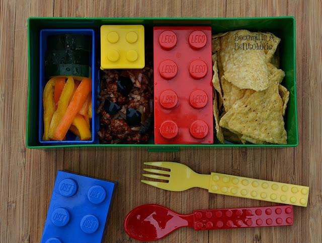 Lego, leftovers, nachos, bento