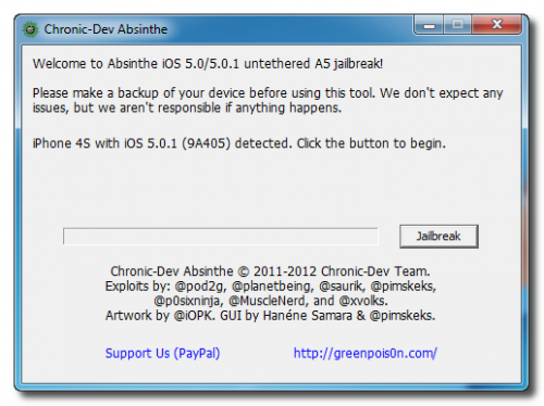 how to jailbreak iphone 4S using absinthe on windows