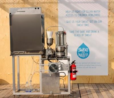 mesin air minum keringat