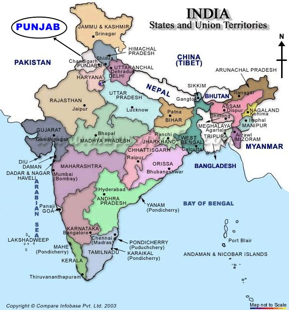Peta negara India