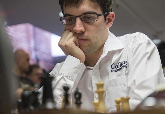 Maxime Vachier-Lagrave n'a pas réussi avec les Blancs à mettre la pression sur Aronian. Nulle sans histoire © Chess & Strategy