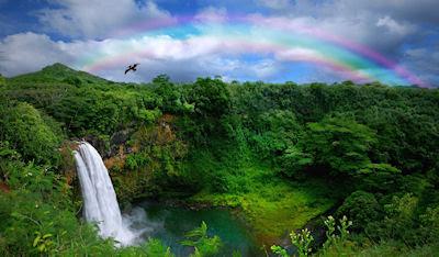 Cascadas del arcoiris - Postales de nuestra naturaleza