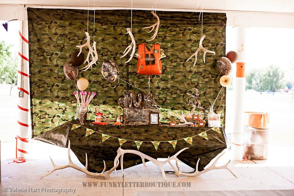 The Funky Letter Boutique Buck Fever Hunting Themed Birthday Party