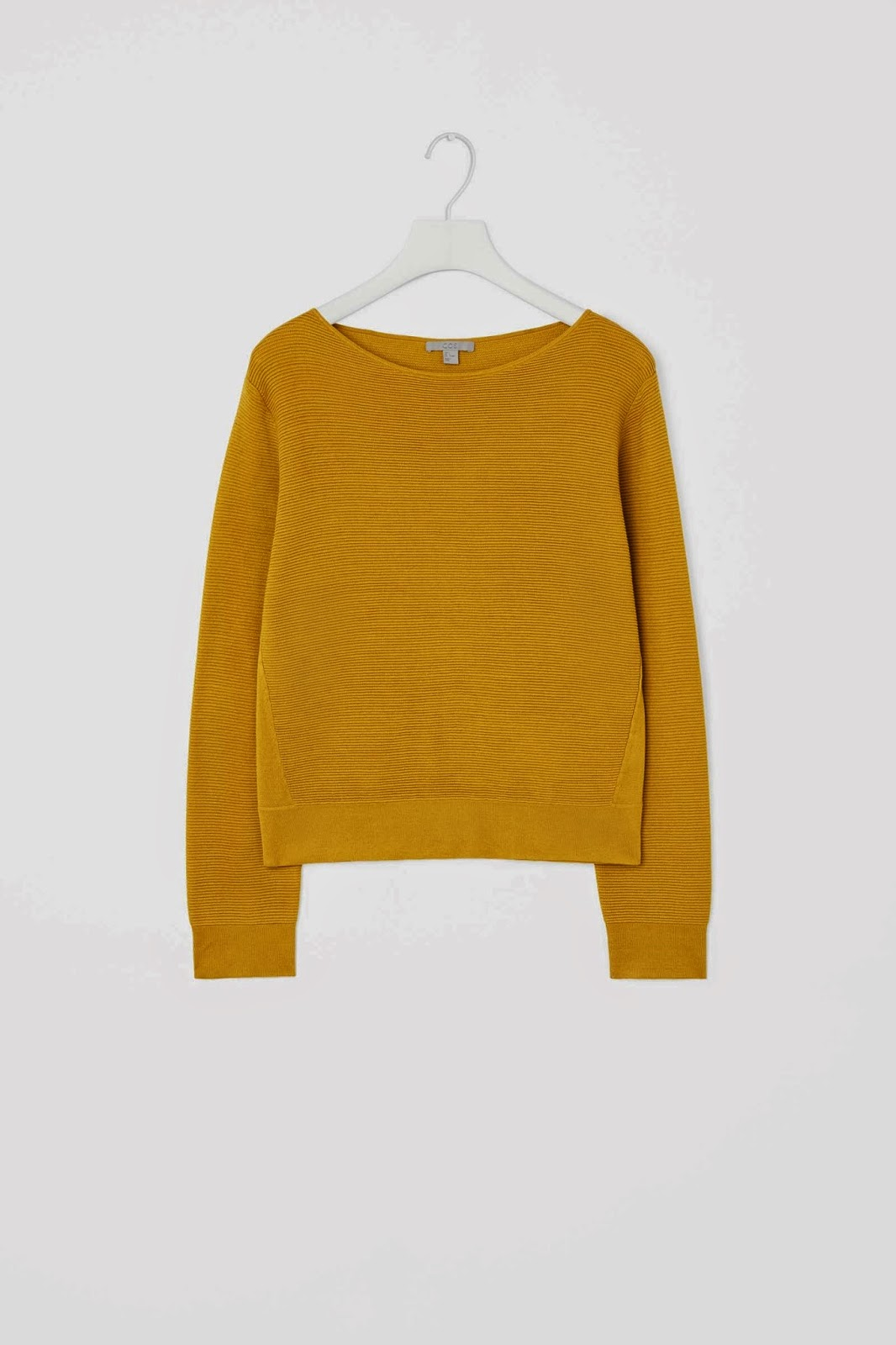 cos mustard jumper