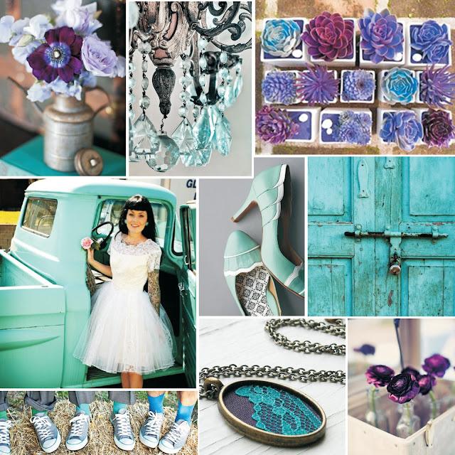 Wedding Wednesday Teal and Purple
