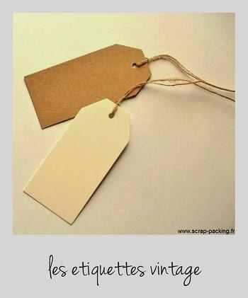 Etiquette retro kraft ou carton blanc