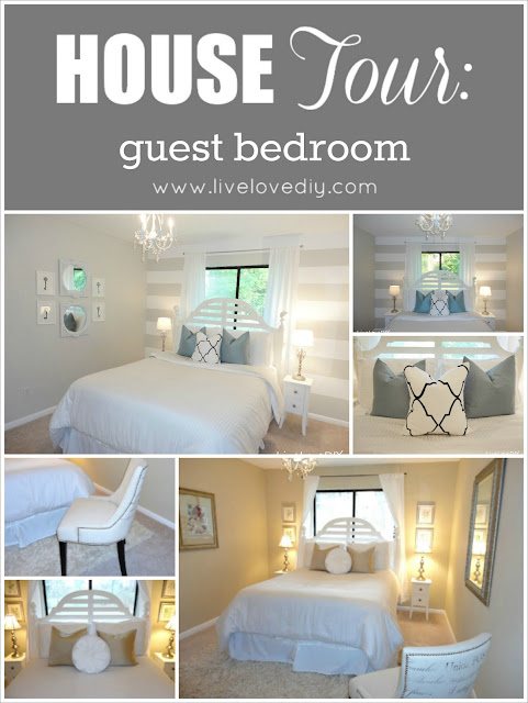 LiveLoveDIY Guest Bedroom: Budget Friendly Decorating Solutions Anyone Can Use!